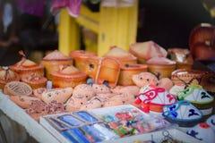 Orientalische Andenken im asiatischen Markt Kasachstan Stockbild