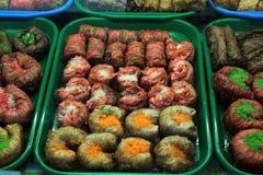 Orientalische Bonbons auf dem Markt lizenzfreies stockbild