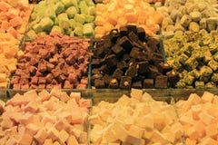 Orientalische Bonbons am Basar Lizenzfreies Stockfoto