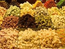 Orientalische Bonbons am Basar Stockfoto