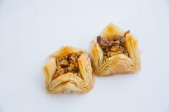 Orientalische Bonbons mit Honig und Nüssen Lizenzfreies Stockfoto