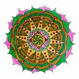 Orientalische dekorative Hand gezeichnetes Mandalamuster Lizenzfreies Stockfoto