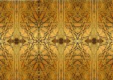 Orientalische Eisendesigne und -verzierungen Die Malerei stellt orientalische Muster auf der Eisentür dar Stockbild