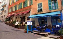 Orientalische ethnische Restaurants in Nizza, Frankreich. Stockfotos