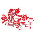 Orientalische Fisch-Schwimmen Stockfotografie
