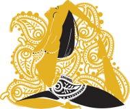 Orientalische Frau stock abbildung