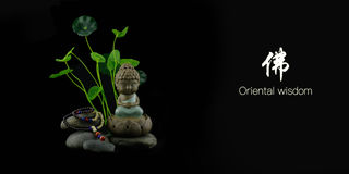 Orientalische Klugheit Buddha Stockbilder