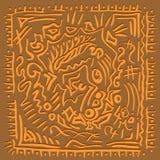 Orientalische Melodie entziehen Sie Hintergrund Lizenzfreies Stockbild