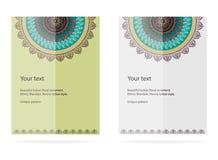 Orientalische Motivspitze-Designkarten Stockbild