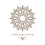 Orientalische Musterlogoschablone des geometrischen Designs arabische Lizenzfreies Stockfoto