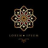 Orientalische Musterlogoschablone des geometrischen Designs arabische Stockbilder