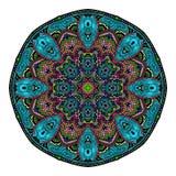 Orientalische stilisierte Verzierungsfarbkarte mit Mandala Dekorative Elemente der Weinlese Hand gezeichneter Hintergrund zeichen Lizenzfreie Stockfotos