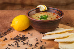 Orientalische Suppe Lizenzfreies Stockfoto