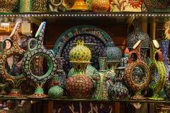 Orientalische Teller für Basar Lizenzfreies Stockbild