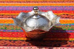 orientalische Teller für Osttischdecke Lizenzfreies Stockbild