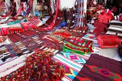 Orientalische Teppiche im Wakif souk in Doha Qatar Stockbilder