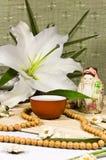 Orientalische traditionelle Lebensdauer der Tezeremonie noch. stockbild