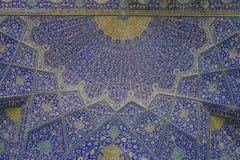 Orientalische Verzierungen, Isfahan-Moschee, der Iran Lizenzfreie Stockfotografie