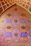 , orientalische Verzierungen von Nasir Al-Mulk Moschee, S lizenzfreie stockfotografie