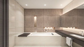 Orientalische Wiedergabe Badezimmer/3D Stockbild
