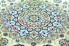 Orientalische Wolldecke - Symmetrie-Muster Stockfotografie