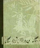 Orientalischer Baum- und Bambusblumenfahnenhintergrund Lizenzfreie Stockfotografie