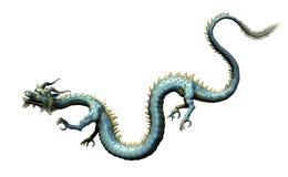 Orientalischer Drache mit Ausschnitts-Pfad stock abbildung