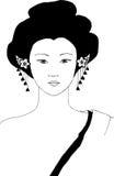 Orientalischer Frauenvektor Stockfotografie
