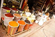 Orientalischer Lebensmittel- und Gewürzmarkt Lizenzfreies Stockbild