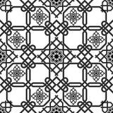 Orientalischer nahtloser Hintergrund, doppelte Linien der Kombinationswebart Lizenzfreies Stockbild