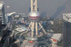 Orientalischer Perlen-Kontrollturm in Shanghai Lizenzfreies Stockbild