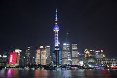 Orientalischer Perlen-Turm und Einfassungen, Pudong, Shanghai lizenzfreie stockbilder