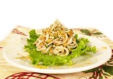 Orientalischer vegetarischer Nudelsalat Stockfotos
