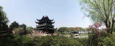Orientalisches Architekturgebäude Frühlingszeit Shanghais lizenzfreies stockfoto