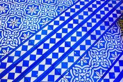 Orientalisches blaues und weißes Muster lizenzfreie stockfotografie