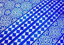 Orientalisches blaues und weißes Muster stockfoto