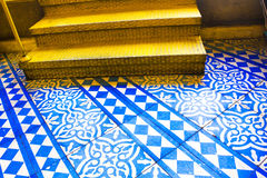 Orientalisches blaues und weißes Muster lizenzfreies stockbild
