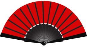 Orientalisches Fan-Rot Lizenzfreie Stockfotos