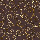 Orientalisches Goldnahtloses Muster Lizenzfreies Stockbild