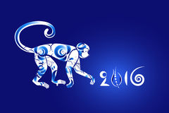 Orientalisches Horoskop, Jahr des Affen Stockfotografie