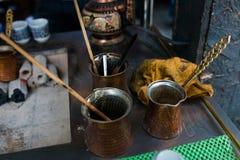 Orientalisches Kaffeehaus in Istanbul Stockbild