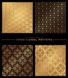 Orientalisches nahtloses Muster Asiatisches traditionelles geometrisches Blumen oder vektor abbildung