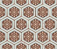 Orientalisches nahtloses Muster des Vektors Realistischer Weinlese-Marokkaner Stockbild