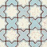 Orientalisches nahtloses Muster des Vektors Realistischer Weinlese-Marokkaner Lizenzfreies Stockfoto