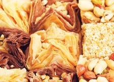 Orientalisches süßes Baklava Lizenzfreie Stockfotos
