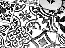 Orientalisches Schwarzweiss-Muster stockfoto