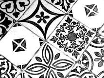 Orientalisches Schwarzweiss-Muster lizenzfreies stockbild