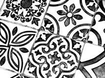 Orientalisches Schwarzweiss-Muster lizenzfreie stockfotos