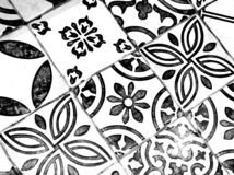 Orientalisches Schwarzweiss-Muster stockbild