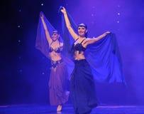 Orientalisk Österrike för dansare-Turkiet bukdans- dans för värld Arkivfoton